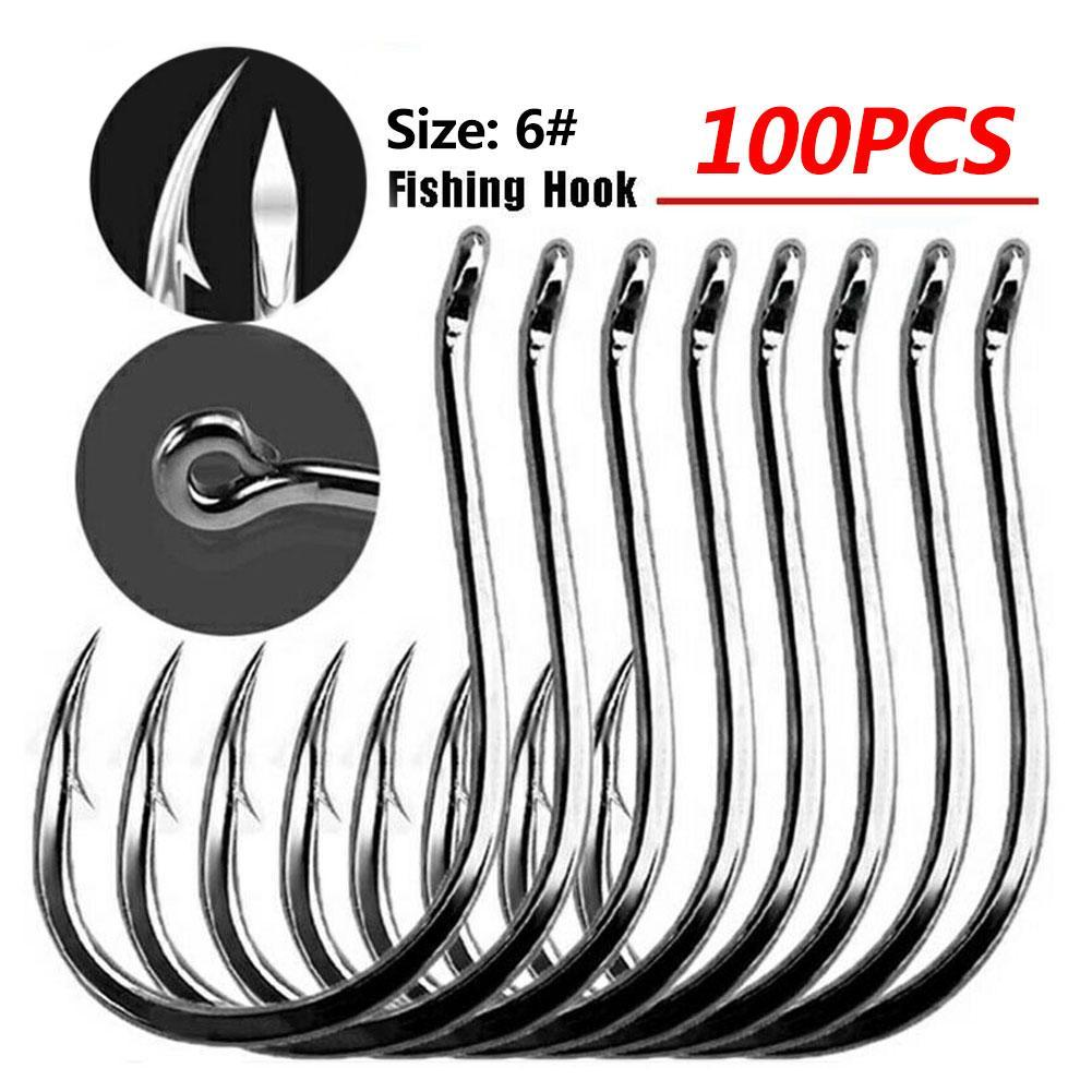 High Carbon Steel Bait Holder Fishhooks Lot 100 Fishing Stable Hooks Hook E7I9
