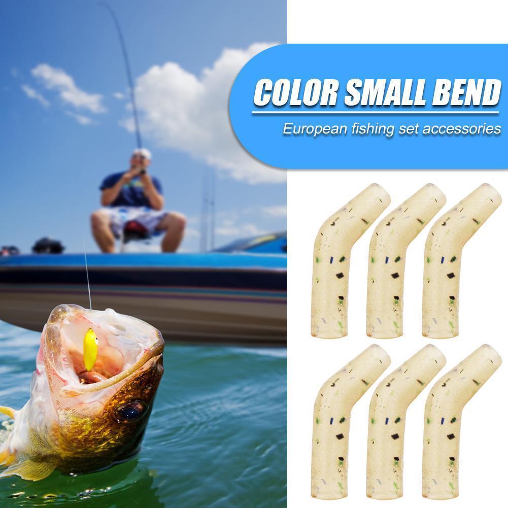 20Pcs Fishing Carp Fishing Hook Sleeves Aligner Hook Carp Hair Rig Sleeve SA
