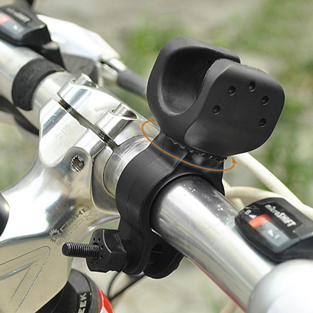 360° Swivel Bike Light Luces LED Flashlight Mount Bracket Holder Torch Clip HOT