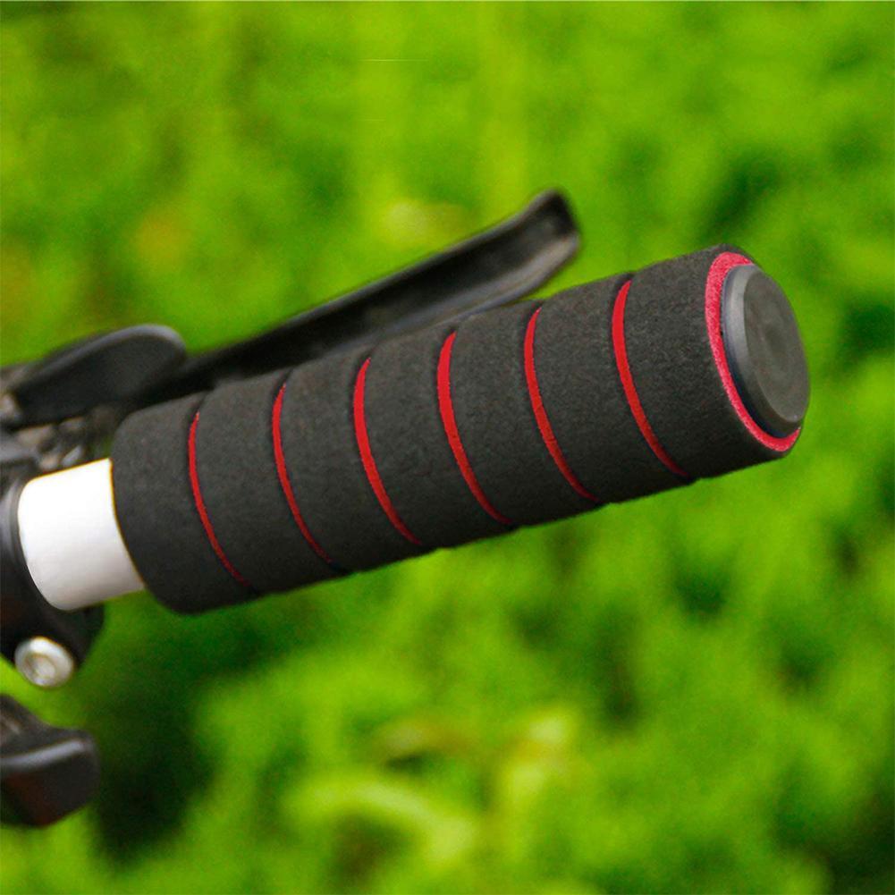 BMX MTB Bike Mountain Bicycle Soft Grips Rubber Bar S9K4 Ni End I4C3