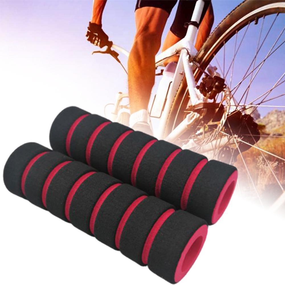 1Pair Sponge Foam Bicycle Handle Bar Grip Cover For Yellow Mountain Road N1G5