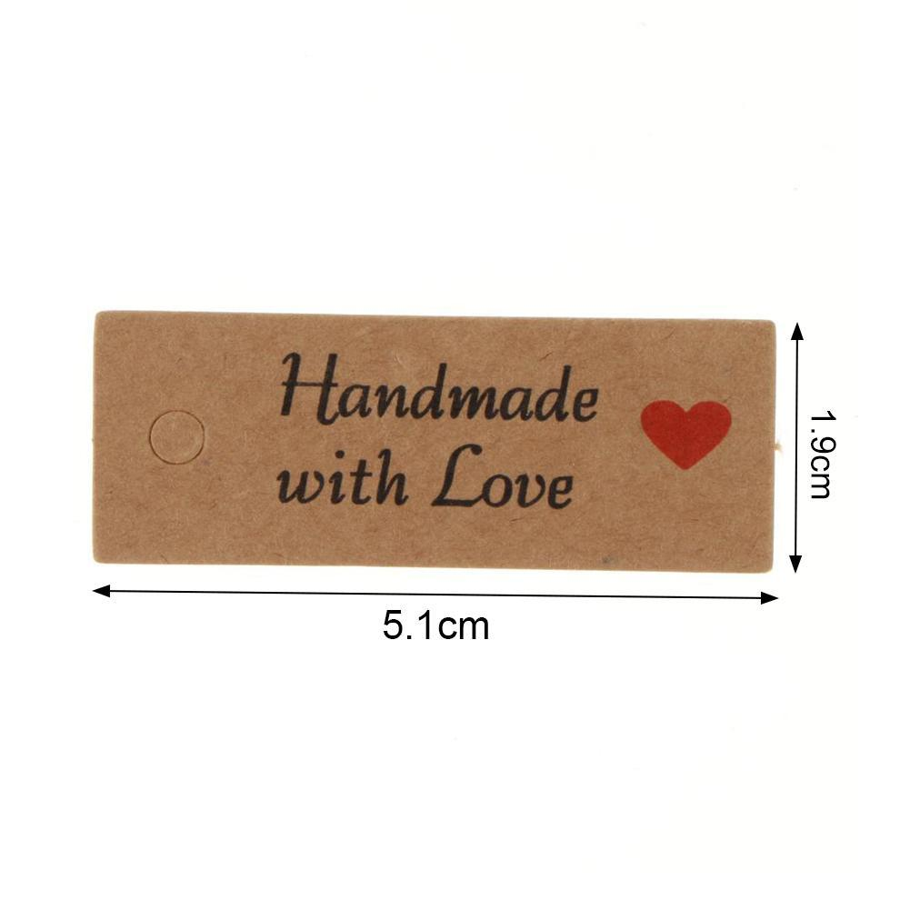 50x Love Heart Kraft Paper Tags Label Wedding Party Gift Card Easy Use2017.