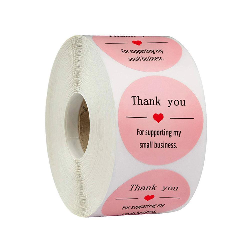 500Pcs Love Thank You Stickers Wedding Birthday Party Labels Handmade N0U4