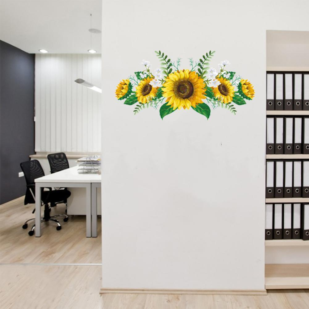 Wall Sticker PVC Supply Waterproof Home-Decor Removable Kitchen Sunflower Decals