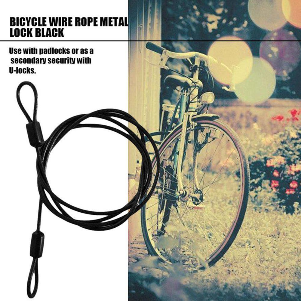 Bicycle Cable Lock Double Loop Bike Extender Cycle Locking