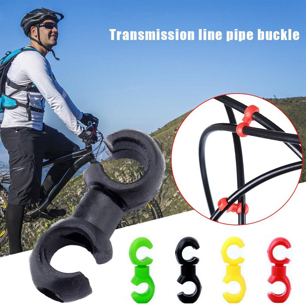 10Pcs MTB Bicycle Bike S-Clips Rotating Brake Cable Tidy Guide Line Clamp C5A2
