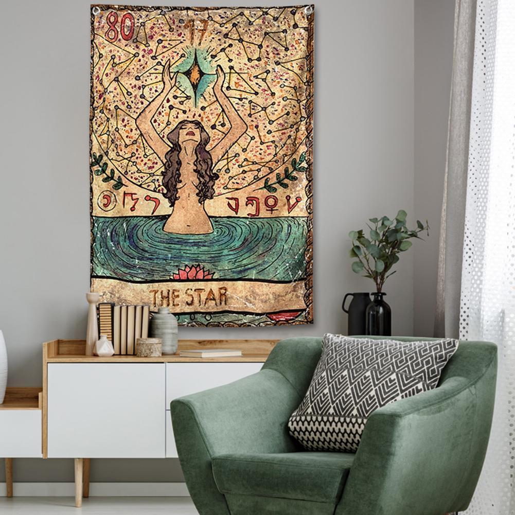Digital Printing Tarot Landscape Background Beach Towel Hanging Wall Tapestry