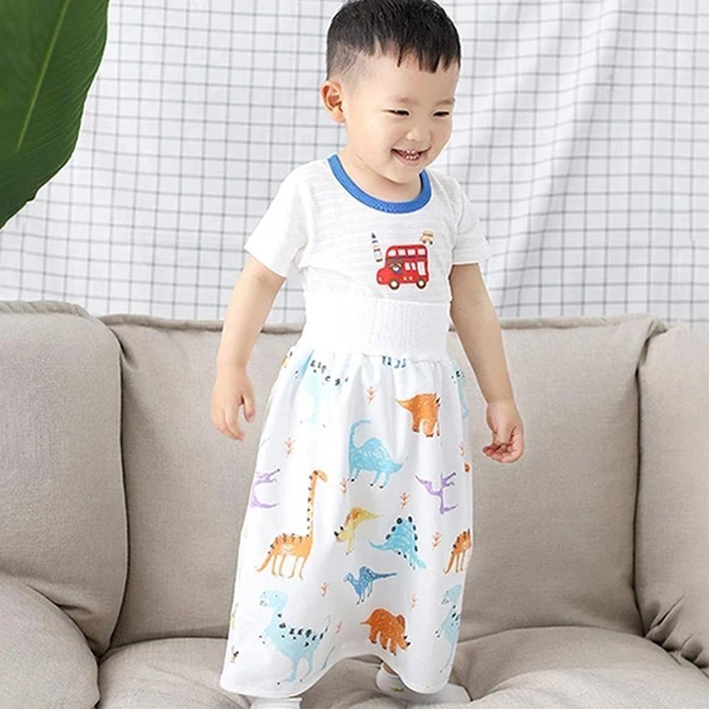 MJYT Comfy Childrens Diaper Skirt Shorts 2 in 1 Waterproof Leak-Proof Washable Baby Kid Diaper Skirt Pants