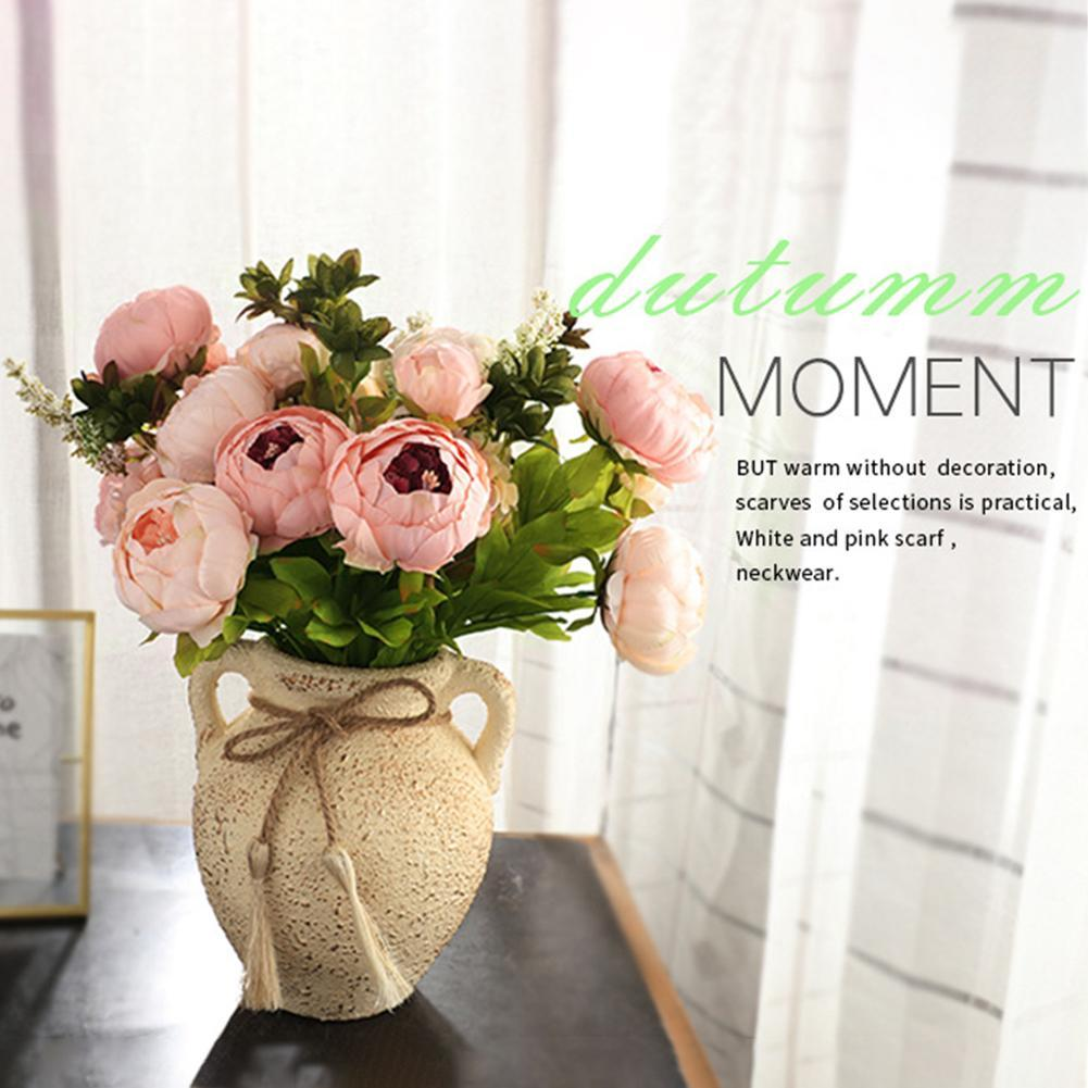 Artificial Flowers Silk Peony Home Party Decor 13 Heads  Bouquet Wedding Bunch