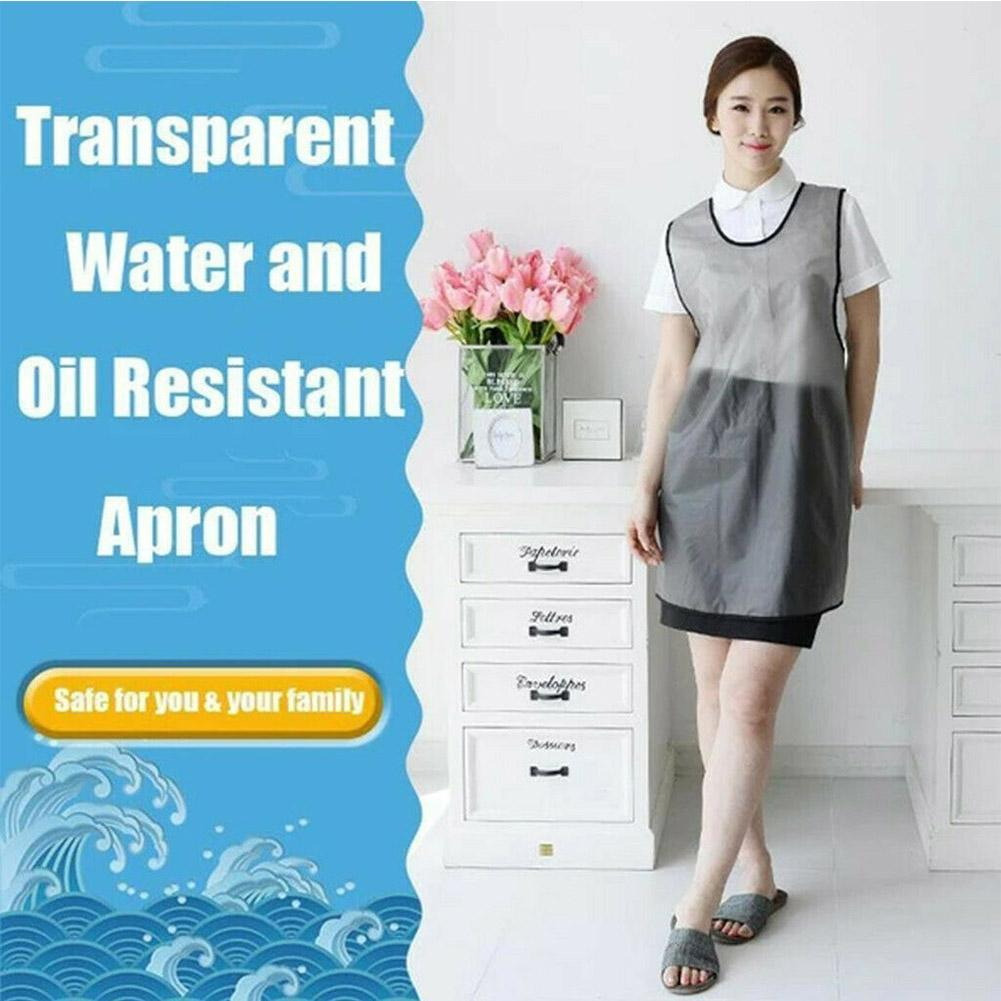 Portable Work Industrial Bib Smock Cleaning Waterproof PVC Plastic Long Apron