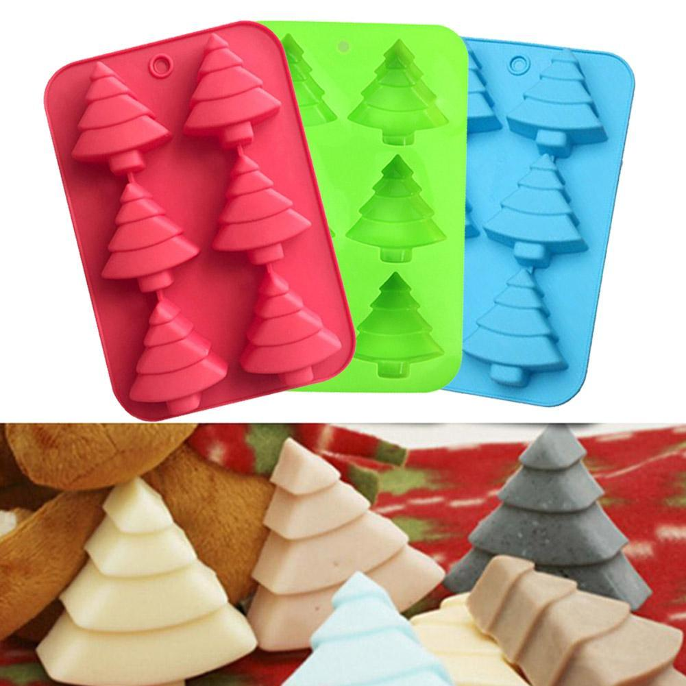 Christmas Tree Silicone Cake Chocolate Baking Mold Ice Tray Jelly Wax Mould