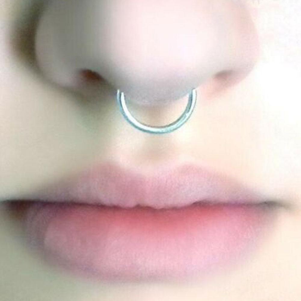 Modischer Körperschmuck Bunter Stahl Fake Nose Hoop Punk Nasenring Style P5 K6D1
