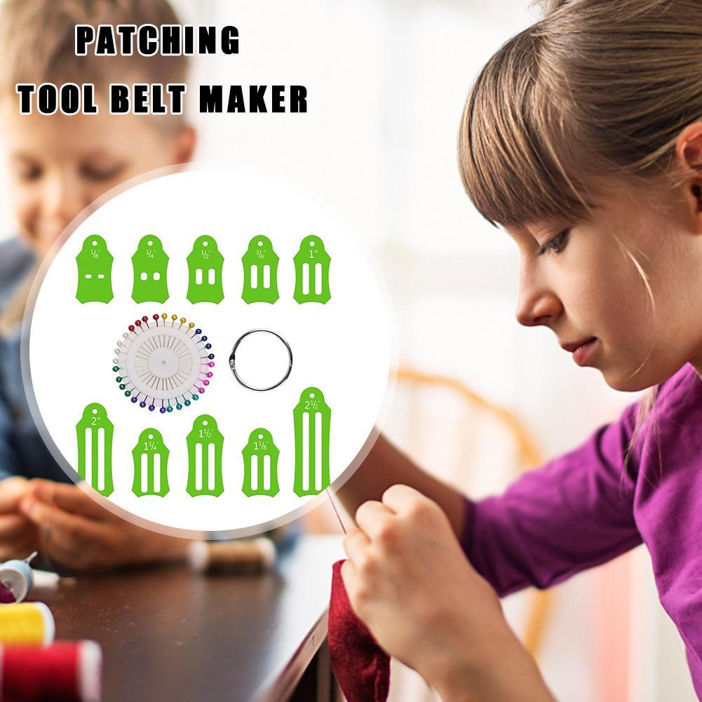 Bias Tape Maker Kit Jelly Roll Sasher Tool For Sewing Strip Folding NEW I9T7