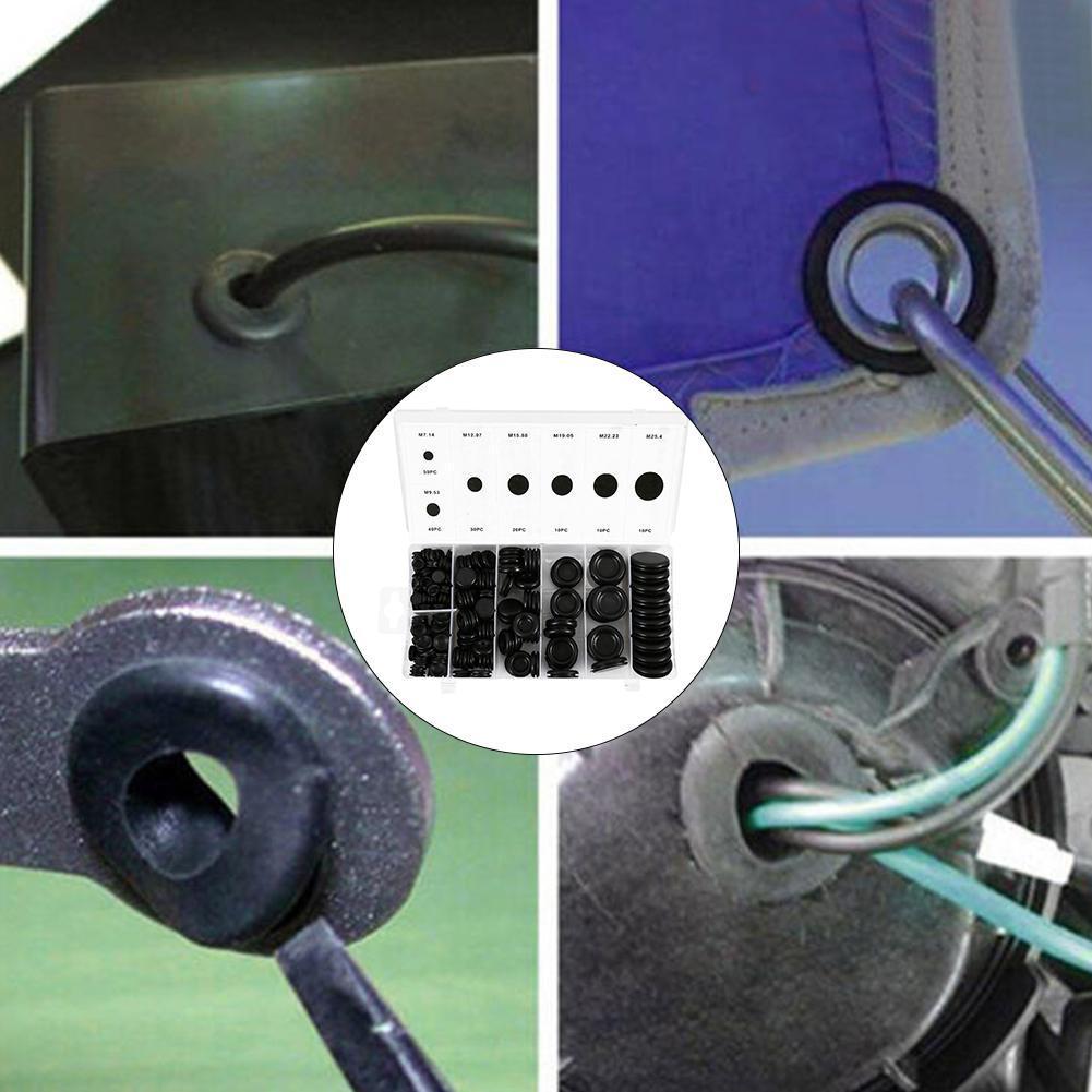 170X Rubber Grommet Firewall Hole Plug Electrical Wiring Gasket Assortment US