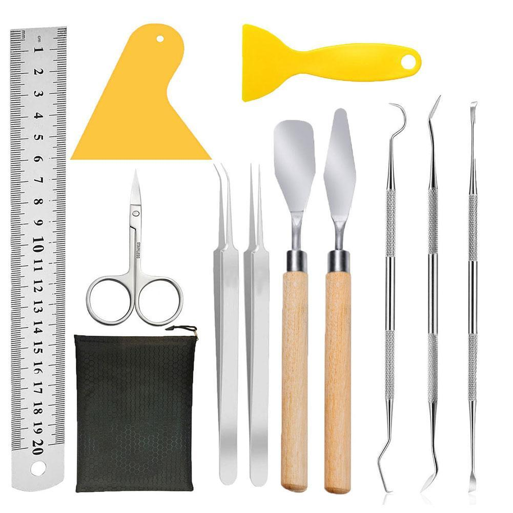 Craft Vinyl Weeding Tools Stainless Cutter Tool Scissor Tweezers Weeders Spatul