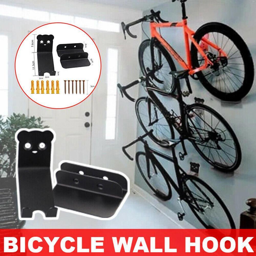 Bicycle Wall Mount Hook Bicycle Parking Rack Road MTB Bike Buckle Stand Holder~