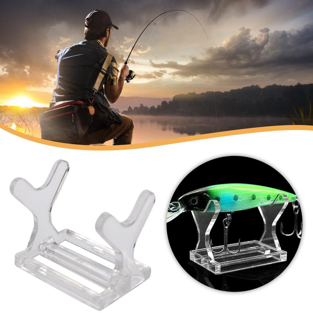 1xDisplay Stand Tool For Fishing Lure Holder Crankbait Topwater Easel O9M6