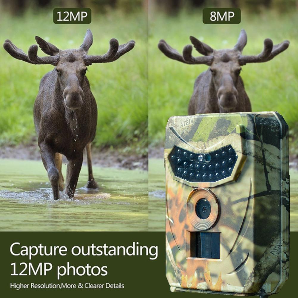 12MP Trail Camera 1080P HD Hunting Cam PIR IR Night Vision IP65 Waterproof x 1
