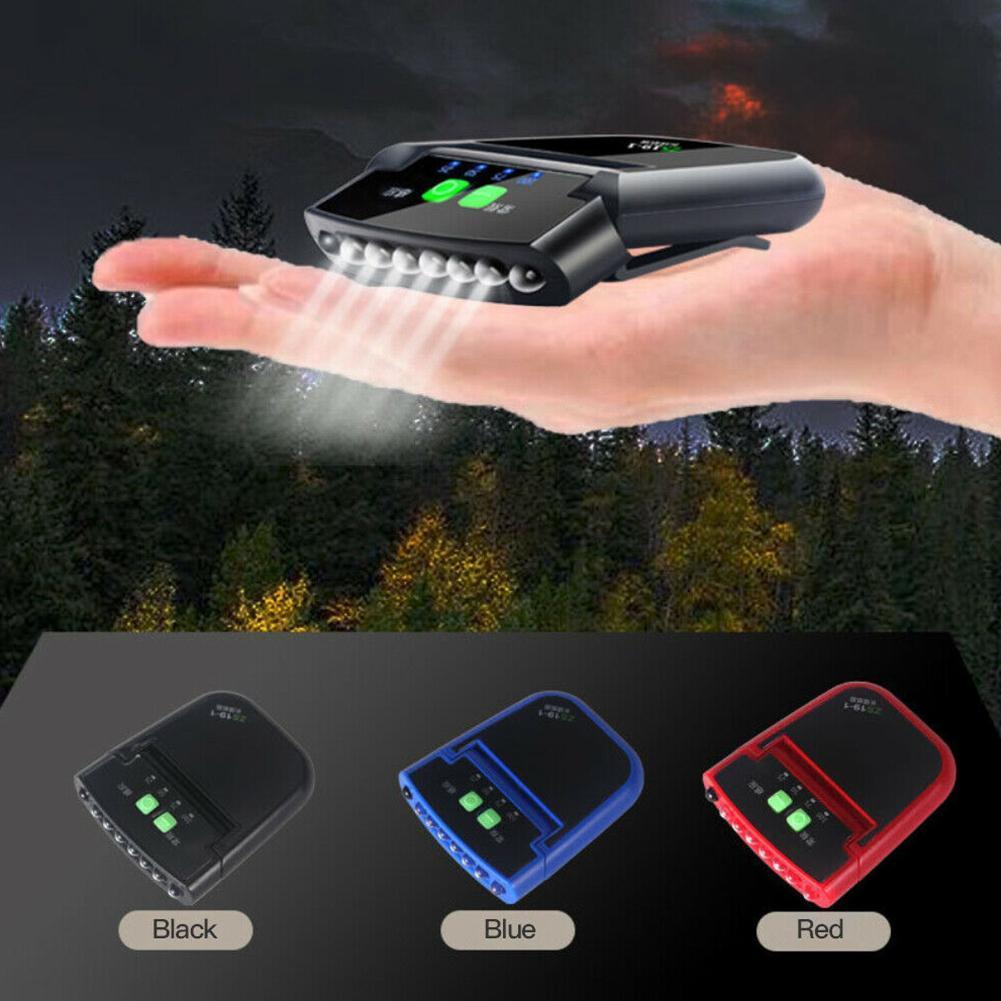 6 LED Clip-on Scheinwerfer Sensor Cap Hut Lampe Taschenlampe M0J7