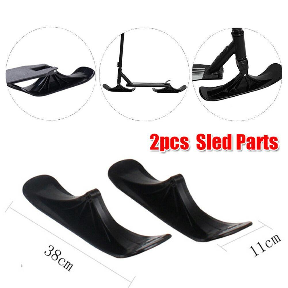 2pcs Replacement Ski Toboggan Scooter Sled Parts Outdoor Toy Winter P2X1
