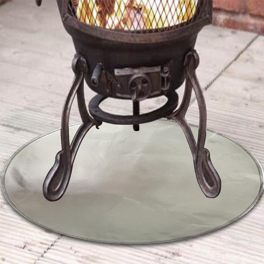 60cm Fireproof Mat Fire Pit Mat Fire Pit Pad Deck Protector Great For Deck Uk Ebay