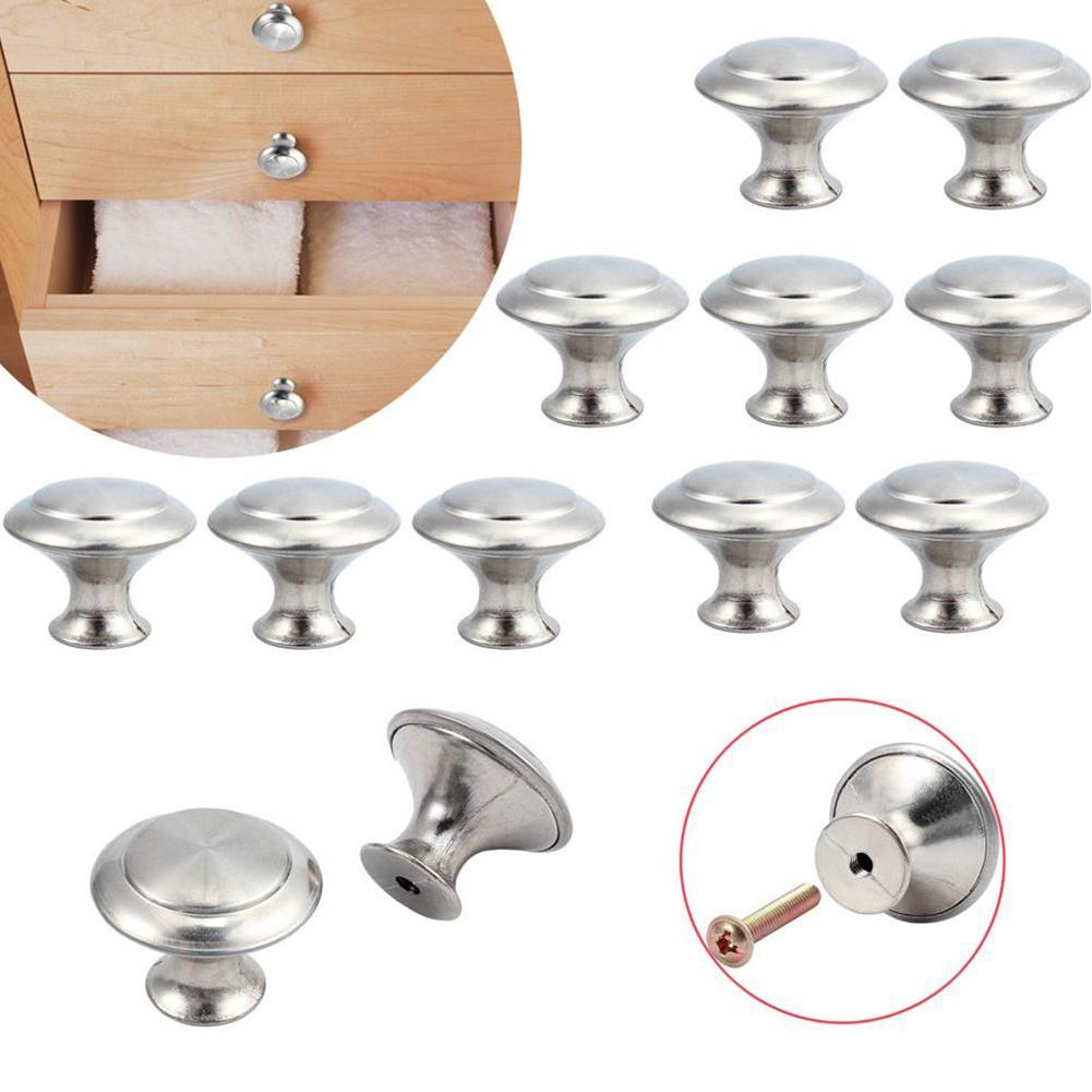 10Pcs-Simple Round Head Cabinet Handles Door Cupboard Kitchen Drawer Knobs Pulls