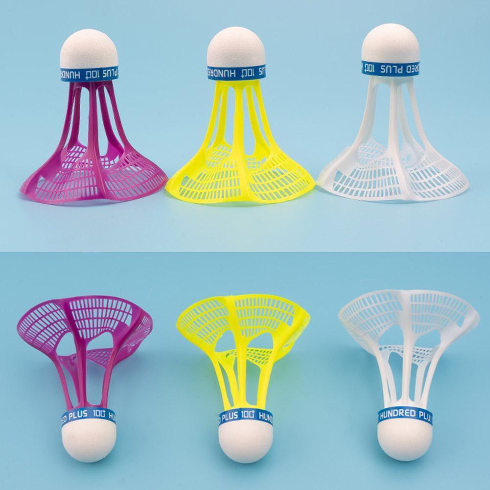 Set Badminton Outdoor Game Training Feder Federball Windschutz 3 Stück