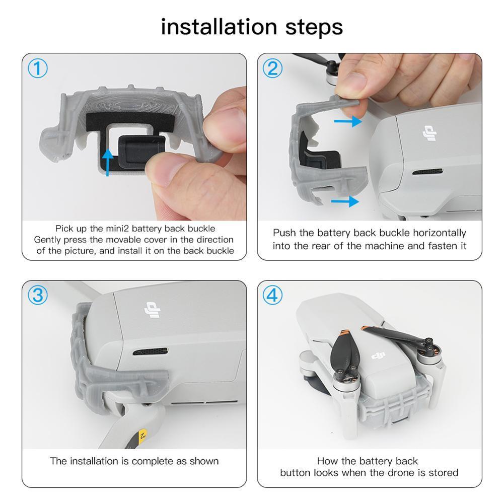 3D Fixed Holder Battery Anti-drop Cover Housing Case Shell For DJI Mavic Mini 2
