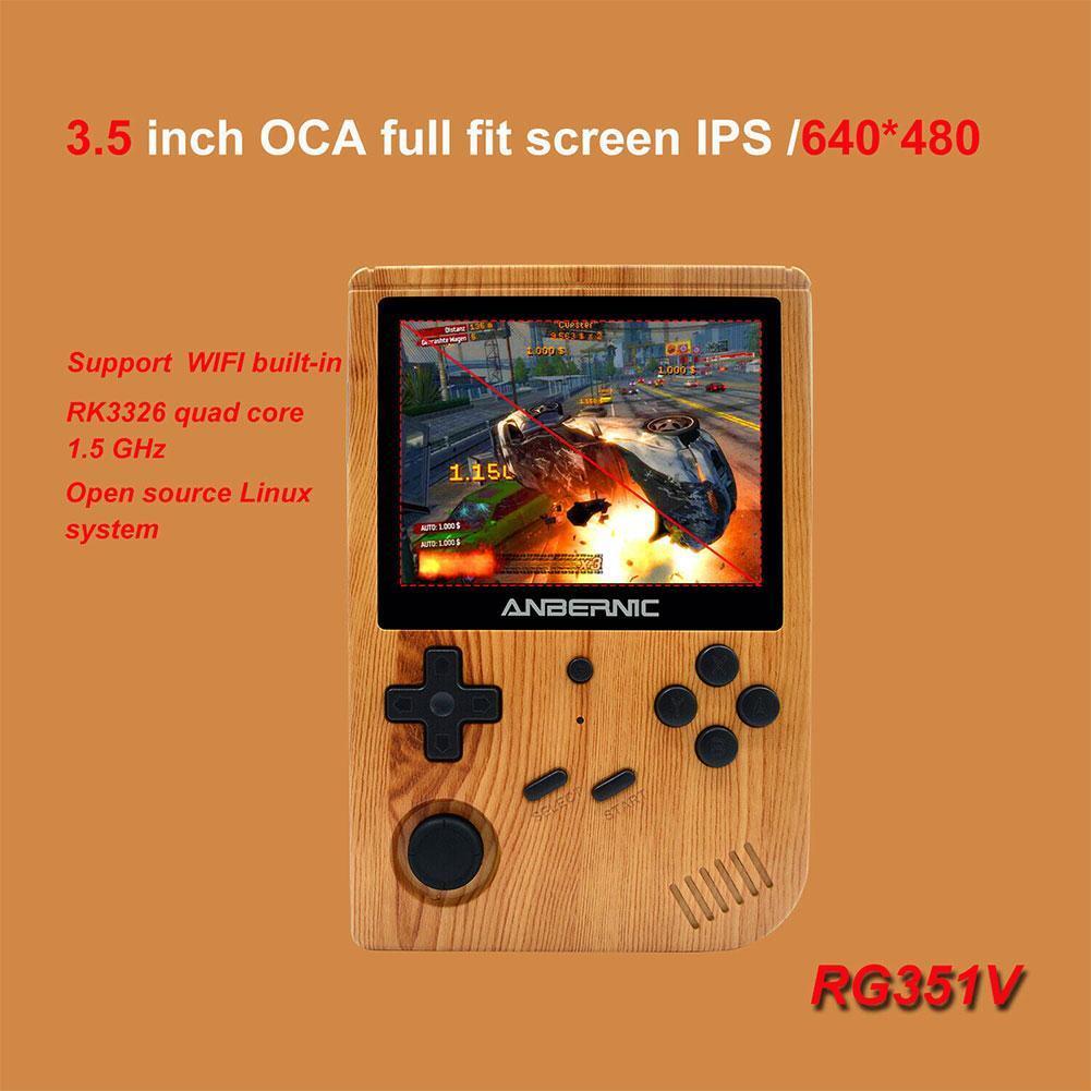 3.5inch IPS Screen Retro Game Console Wood Grain Open Source ...